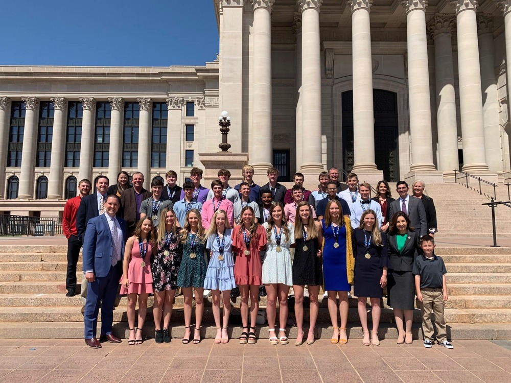 Basketball State Champions & Academic State Champions at the State Capital
